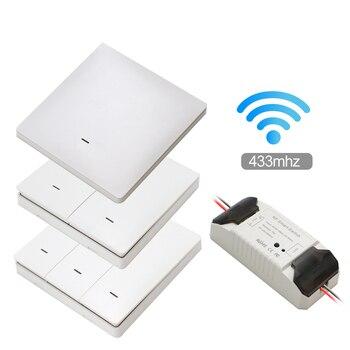 Smart Life APP WiFi RF DIY Switch Wifi Smart Breaker Switch Wireless Controller Light RF 433Mhz Wall DIY Relay Timer Tuya 1