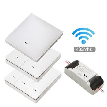 Smart Life APP WiFi RF DIY Switch Wifi Smart Breaker Switch Wireless Controller Light RF 433Mhz Wall DIY Relay Timer Tuya недорого