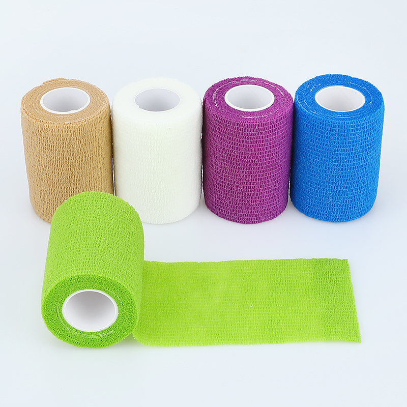 1/3/5pcs Medical Therapy Self Adhesive Bandage 7.5cm*4.5m Emergency Muscle Tape Finger Joints Wrap First Aid Kit Elastic Bandage