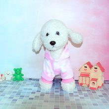 PUOUPUOU Solid Color Dogs Clothes Hoodie Spring Printing Pet Clothes for Dogs Coat Jacket Cotton Cute Dogs Pets Clothing XS-XXL(China)