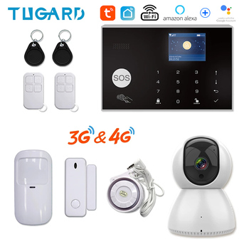 Tuya 433MHz Wifi 3G 4G Home Burglar Security Alarm System,Apps Control Wireless Host Kit With Ptz IP Camera Baby Monitor - discount item  61% OFF Security Alarm