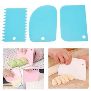 Dough Scraper Spatula Pastry-Tools Cake-Cream Fondant Irregular for Teeth-Edge Baking