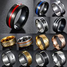 MeMolissa hombre anillo bombero de acero inoxidable delgada azul anillo de línea de calidad superior rojo anillo de línea anillos drop shipping