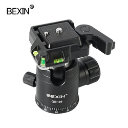 BEXIN QB36 tripod head panoramic ballhead shooting photo rotating ball head with camera quick release clamp for dslr camera