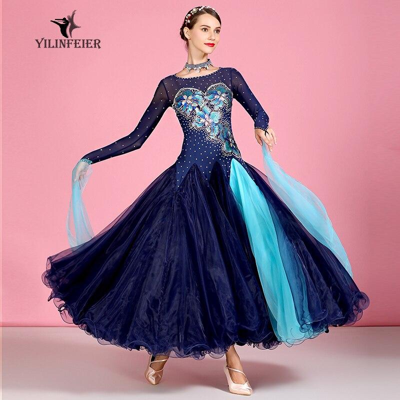 New Ballroom Dance Competition Dress Dance Ballroom Waltz Dresses Standard Dance Dress Women Ballroom Dress  S7040