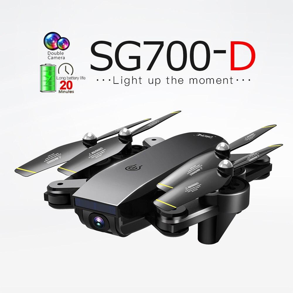 SG700-D WiFi FPV RC Drone con cámara Dual 1080P 720P 4K Selfie profesional plegable helicóptero de flujo óptico Quadcopter Batería de 3,7 V 800mAh y cargador USB para SYMA X5 X5C X5S X5SW X5HW X5HC x5ucs X5UW RC Drone Quadcopter repuestos betery partes 3,7 v #3