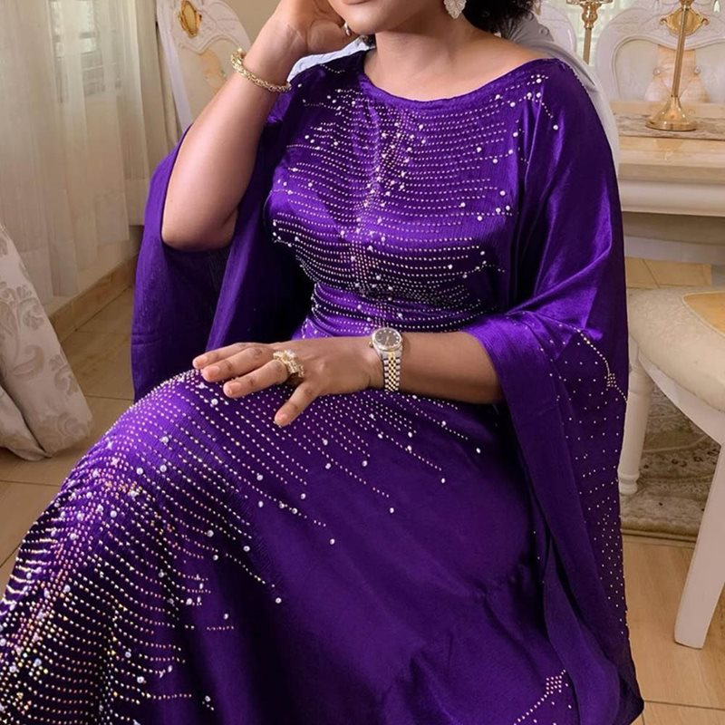2019 Africa Clothing African Dresses For Women Muslim Long Dress High Quality Length Fashion African Dress For Lady