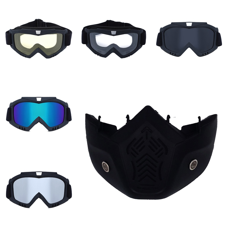Men Women Windproof Skiing Glass Motorbike Helmets Goggles Ski Snowboard Mask Winter Snowmobile Goggles Motocross Sunglasses