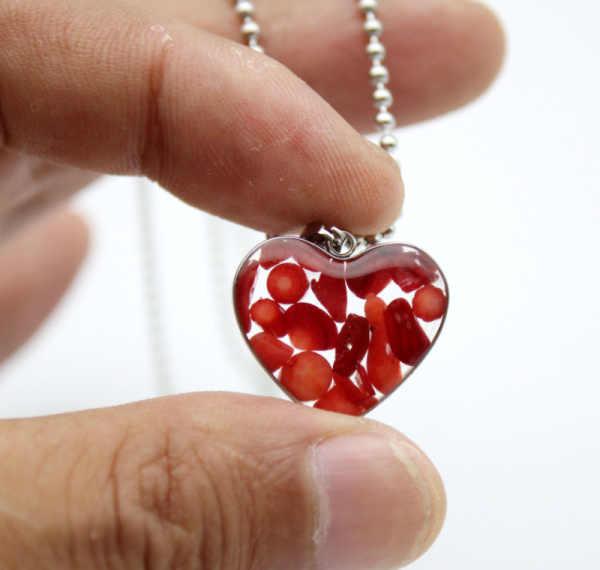 1 قطعة الحجر الطبيعي عين النمر جمشت العقيق اللازورد يدوية الصنع على شكل قلب السيدات الفولاذ المقاوم للصدأ قلادة قلادة 19*21 مللي متر