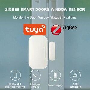 Tuya Smart ZigBee/ WiFi Door Sensor Door Open / Closed Detectors Compatible With Alexa Google Home IFTTT Tuya/Smar tLife APP