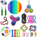 Непоседа куб игрушки 20/21 22 шт. в лоте; Сенсорная игрушка набор антистресс для сброса аутизм, тревожность, игрушка для снятия стресса в пузырь ...