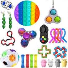 Brinquedos 20/21/22 pçs pacote brinquedo sensorial conjunto anti stress alívio autismo ansiedade anti estresse bolha para crianças adultos