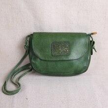 AETOO Original handmade leather handbags mini bag leather art simple shoulder retro Women Messenger small square bag