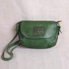 AETOO mini bolso de cuero hecho a mano para mujer, bandolera pequeña cuadrada, Arte de cuero, sencilla, retro