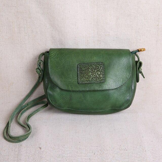 AETOO oryginalne torebki ze skóry ręcznie robione mini torebka sztuka ze skóry proste ramię retro kobiety Messenger mała torba kwadratowa