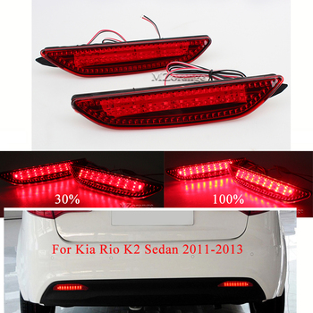 For Kia Rio K2 Sedan 2011-2013 Rear Bumper Reflector Brake Light Tail Lamp Stop Fog  Light Quality Assured Wholesale
