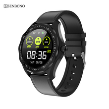 SENBONO IP68  Waterproof Smart Watch S09 Heart Rate Blood Pressure Sleep Monitor Men Sports Smartwatch Fashion Fitness Tracker