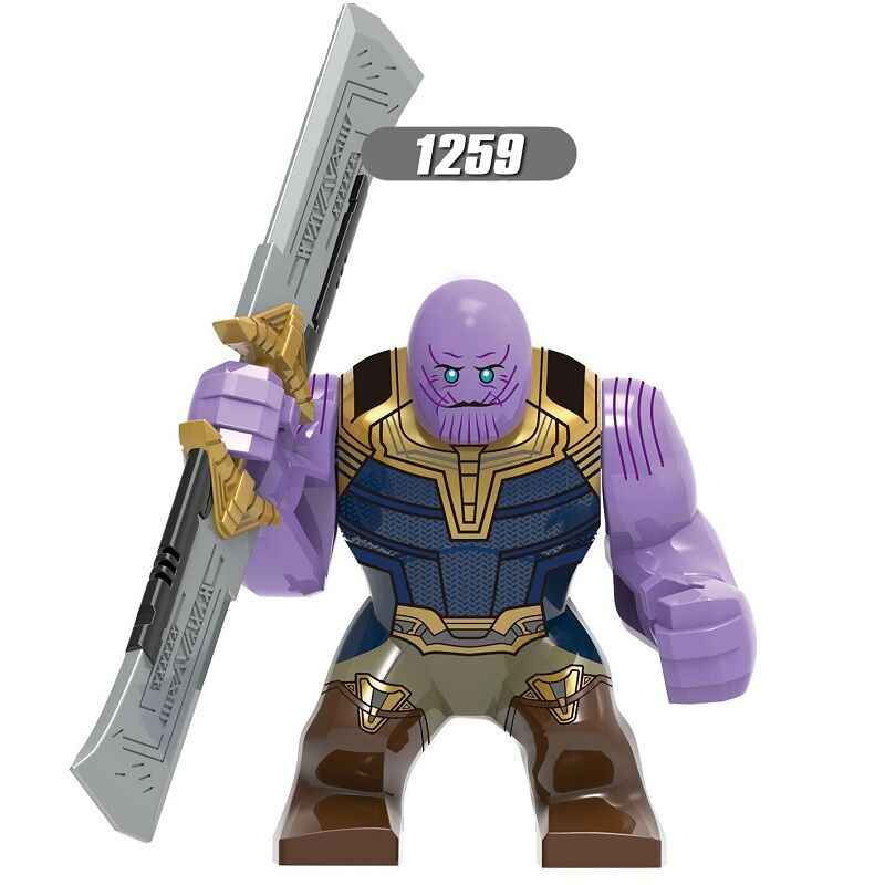 Building Blocks Avengers 4 Endgame Thanos With Double-edged Sword Panther Iron Man Hulk Figures For Children Model Toys XH 1259