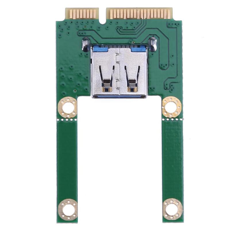 Mini PCI-E To USB 2.0 Adapter Expansion Card With Screws For Laptop PC