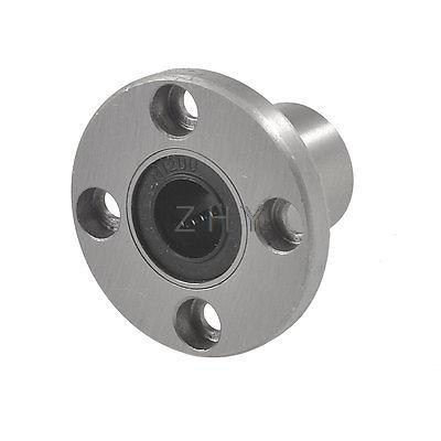 2pcs LMF12UU 12mm Round Flange Linear Bearing Ball Bushing 12x21x30mm CNC Parts