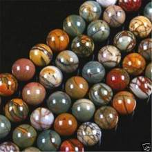 "beads 6MM PICASSO JASPER STONE ROUND BALL LOOSE BEAD 15"" #@(China)"