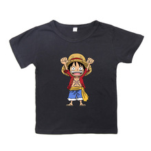 ONE PIECEPrinted kids T shirts cotton short sleeve for boys and girls top casual wear