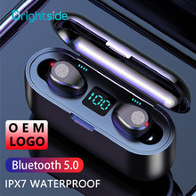 Brightside Wireless Headphones with Microphone 5.0 TWS Headset Noise Cancelling Waterproof IPX-7 Stereo Touch Earphone Earbuds
