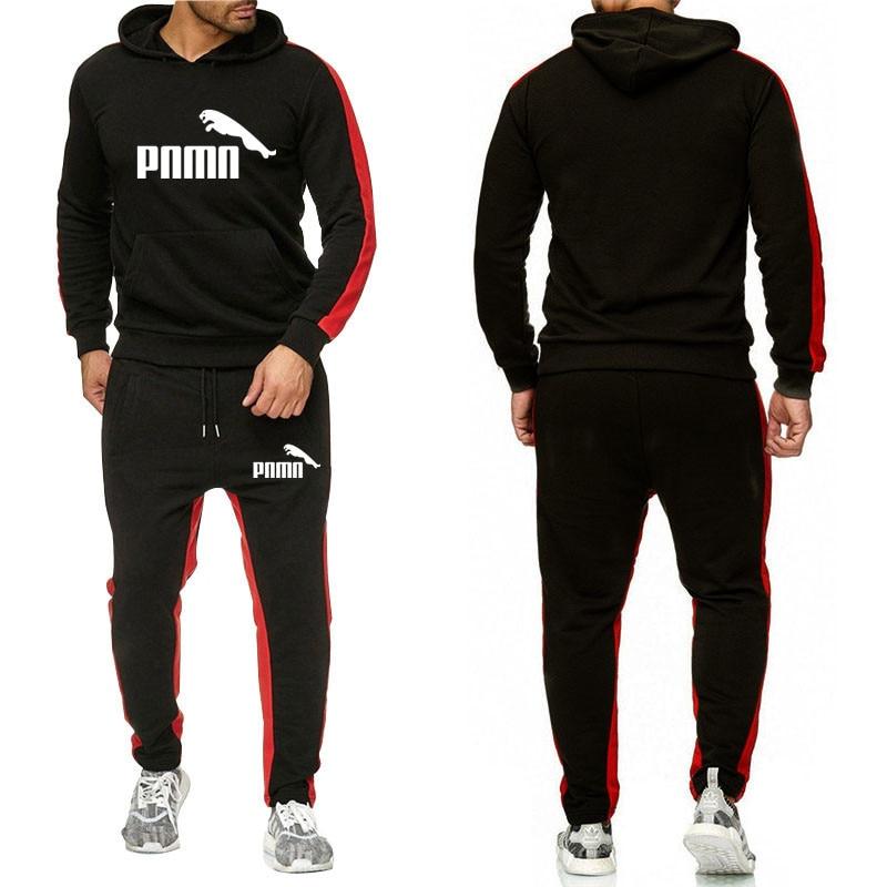 2020 new men's running fitness sportswear casual men's Hoodie + pants jogging sports set men's set
