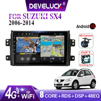 Android 10.0 2 din Car Radio Multimedia Video Player For Suzuki SX4 SX 4 2006 2007 2008 2009 2010 2011 2012 2013 2014 With frame hactivol 9 car radio for suzuki sx4 2006 2012 fiat sedici 2006 2010 android 7 0 1 car dvd player with bluetooth 1g ram 16g rom