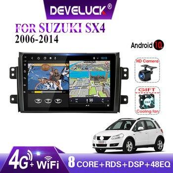Android 10.0 2 din Radio samochodowe multimedialny odtwarzacz wideo dla Suzuki SX4 SX 4 2006 2007 2008 2009 2010 2011 2012 2013 2014 z ramą