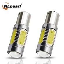 NLpearl 2x Signal Lamp 1156 BA15S Led P21W PY21W BAU15S Led COB SMD 1157 BAY15D P21/5W LED Car Turn Signal Light Brake Lamps 12V