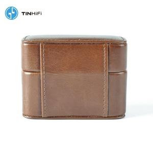 Image 3 - TinHifi 주석 오디오 미니 핸드백 이어폰 하드 박스 가방 헤드폰 케이스 휴대용 Pu 가죽 헤드셋 보관 가방