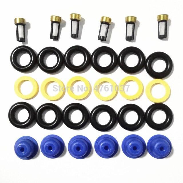 Ford Audi rechange de voiture | Kit de réparation dinjecteur de carburant, 6 jeux de rechange de voiture pour la moto