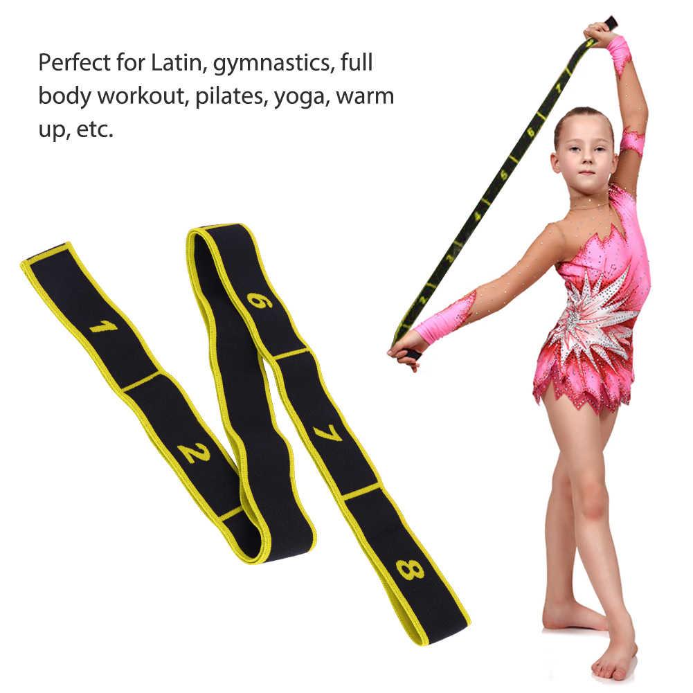 Puseky Kids Girls Latin Dance elastyczny pas elastyczny pasek do ćwiczeń sportowa taśma oporowa do jogi
