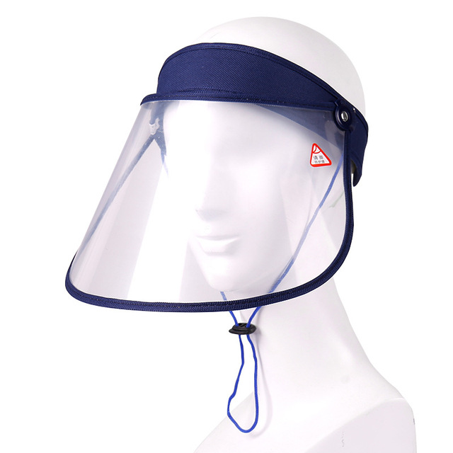 Mistdawn Summer Unisex Full Face Anti-fog Shield Cover Anti Saliva Visor Clear Cap Sun Hat UV Protection Dustproof Windproof