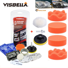 Car Headlight Restoration Polishing Kits Multipurpose Headlamp Lens Repair for Auto Motorcycle Improving Visibility And Security
