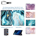 MTT мраморный чехол для планшета Samsung Tab S2 9 7 дюймов Тонкий чехол из искусственной кожи с откидной крышкой смарт-чехол Защитный Shel SM-T810 T813 T815 T819