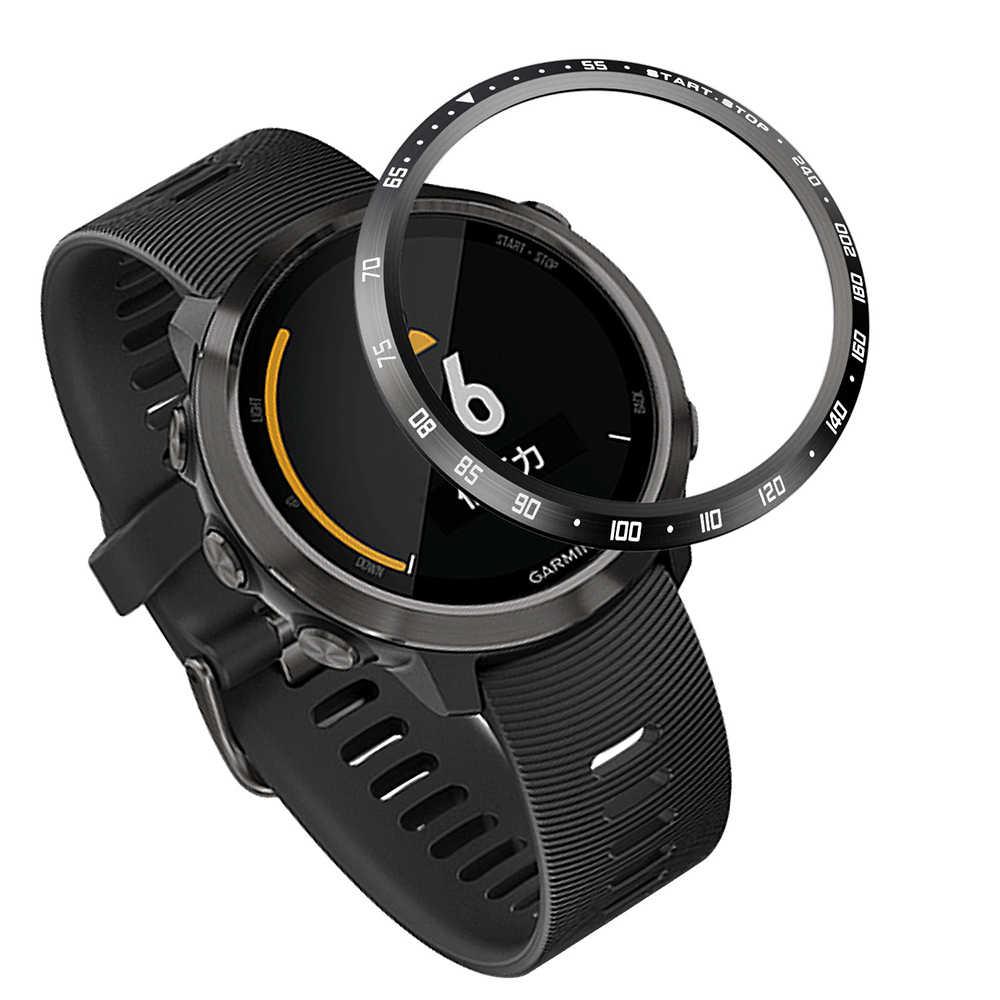טבעת לוח סטיילינג מסגרת מקרה הגנת מתכת כיסוי עבור Garmin Forerunner 645 מוסיקה חכם שעון שריטה אנטי דבק מכסה