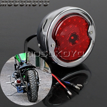 цена на Retro Motorcycle 12v LED License Plate Taillight For Harley 883 Sportster Dyna Cafe Racer Bobber Custom Brake Stop Tail Light