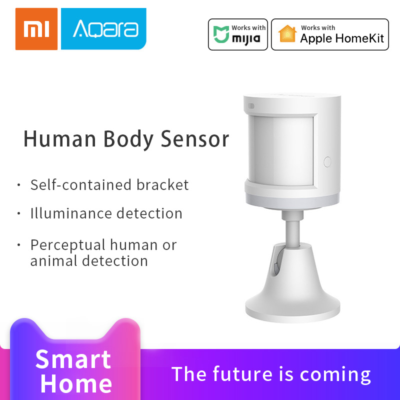 Xiaomi Aqara Human Body Sensor Mijia Smart Home Body Movement Motion Sensor Zigbee Connection Work With Apples Homekit Mijia App