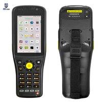 Portátil pda k96 1d 2d scanner de código de barras a laser android 9.0 terminal handheld uhf rfid 4g lte wifi smartphone áspero teclado nfc