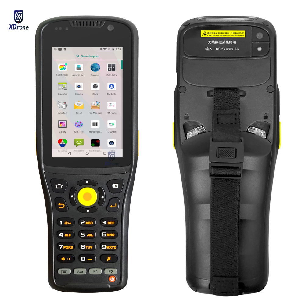 Przenośny laserowy skaner kodów kreskowych PDA K96 1D 2D Android 9.0 ręczny Terminal UHF RFID 4G lte Wifi wytrzymały smartfon NFC klawiatura