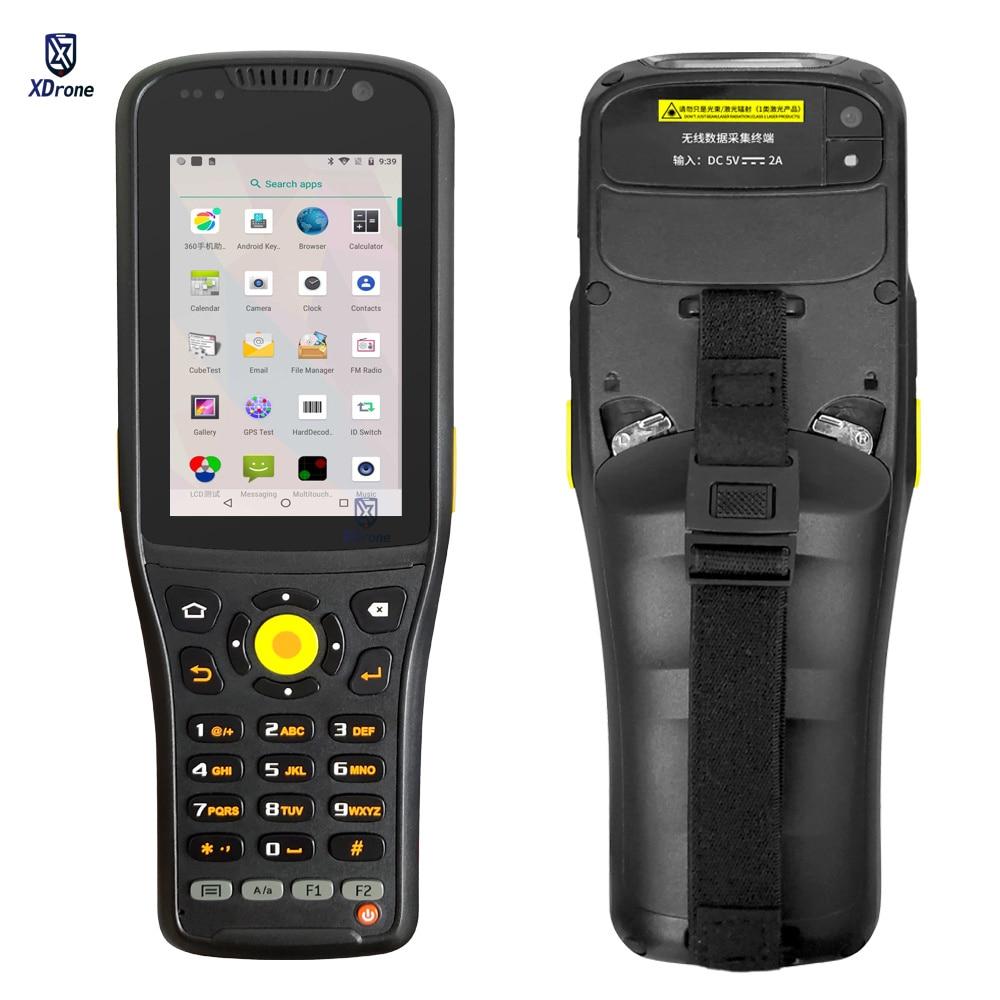 portatil pda k96 1d 2d scanner de codigo de barras a laser android 9 0 terminal