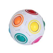 Радуга Головоломка Мяч Лепешки липкие шары 3D Головоломка Куб +Игрушка Мозг Тизер Дети Игрушки