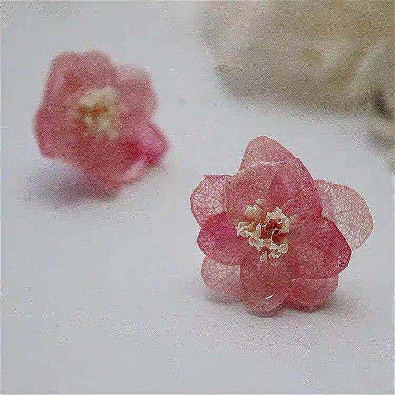 customized earings   womens earrings in jewelr  Immortal flower drops glue ear nail Flowers court earrings Royal earrings