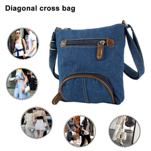 Fashion Blue Denim Shoulder Bags Women Handbag Classical Messenger Bag Satchels Ladies Crossbody Sling for Girls