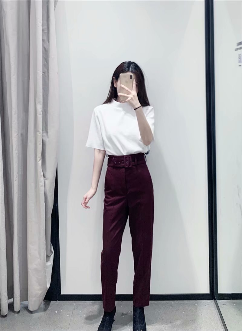 H284555a45b0845938d79197efe62f1d7X - Office Lady Black Suit Pants With Belt Women High Waist Solid Long Trousers Fashion Pockets Pantalones FICUSRONG Pencil