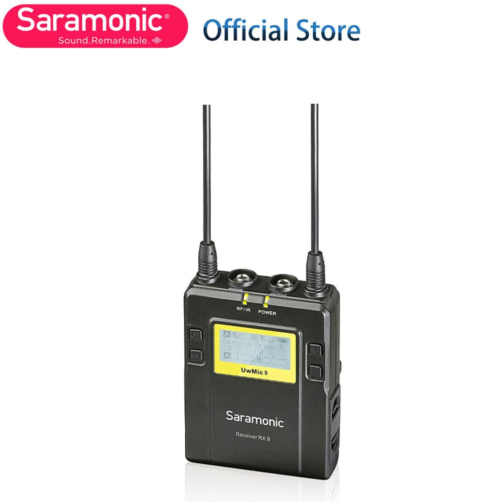 Saramonic RX9 Receiver Unit With 3.5mm Output Cable & Camera Mounting Shoe For The UWMIC9 Wireless Microphone System