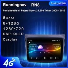 4G Android 10.1 Cho Mitsubishi Pajero Sport/L200/2006 + Triton/2008 + Pajero 2010 Đa Phương Tiện stereo Xe Hơi Cầu Thủ Dẫn Đường GPS Đài Phát Thanh