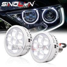 Sinolyn h7 led projetor farol diabo demônio olhos lentes h1 9005 9006 alta feixe de lente led para luzes do carro acessórios retrofit